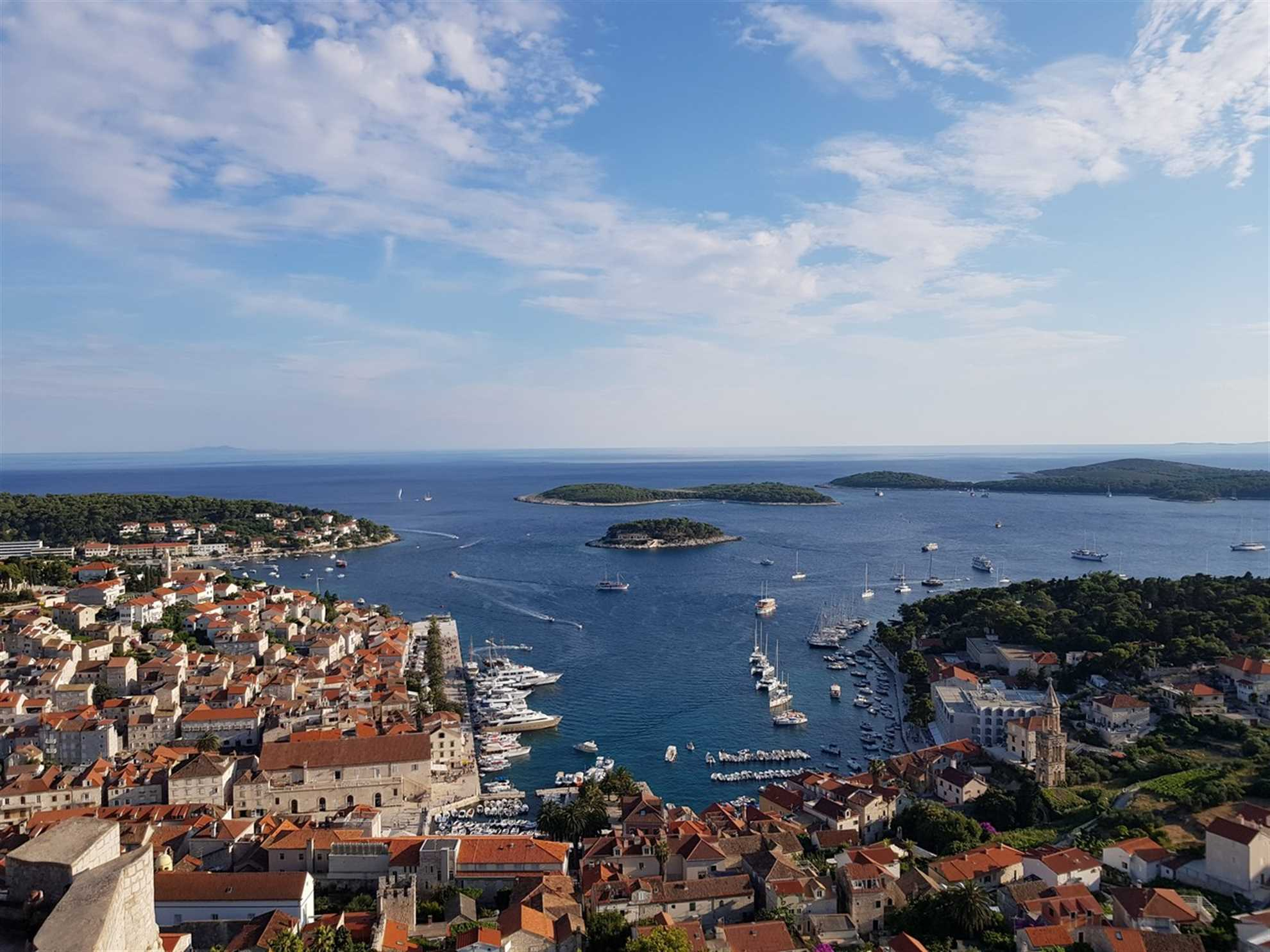 Hvar town and The Pakleni Islands