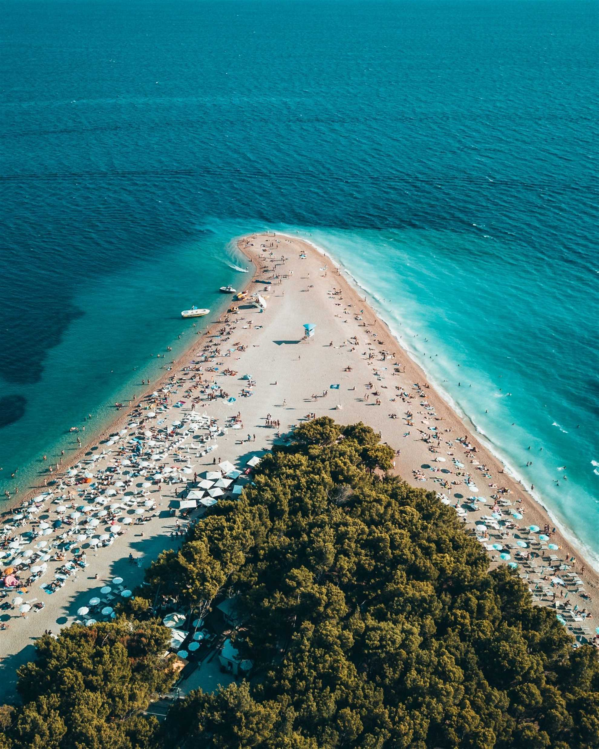 Golden Cape Beach near town of Bol on island Brac in Croatia
