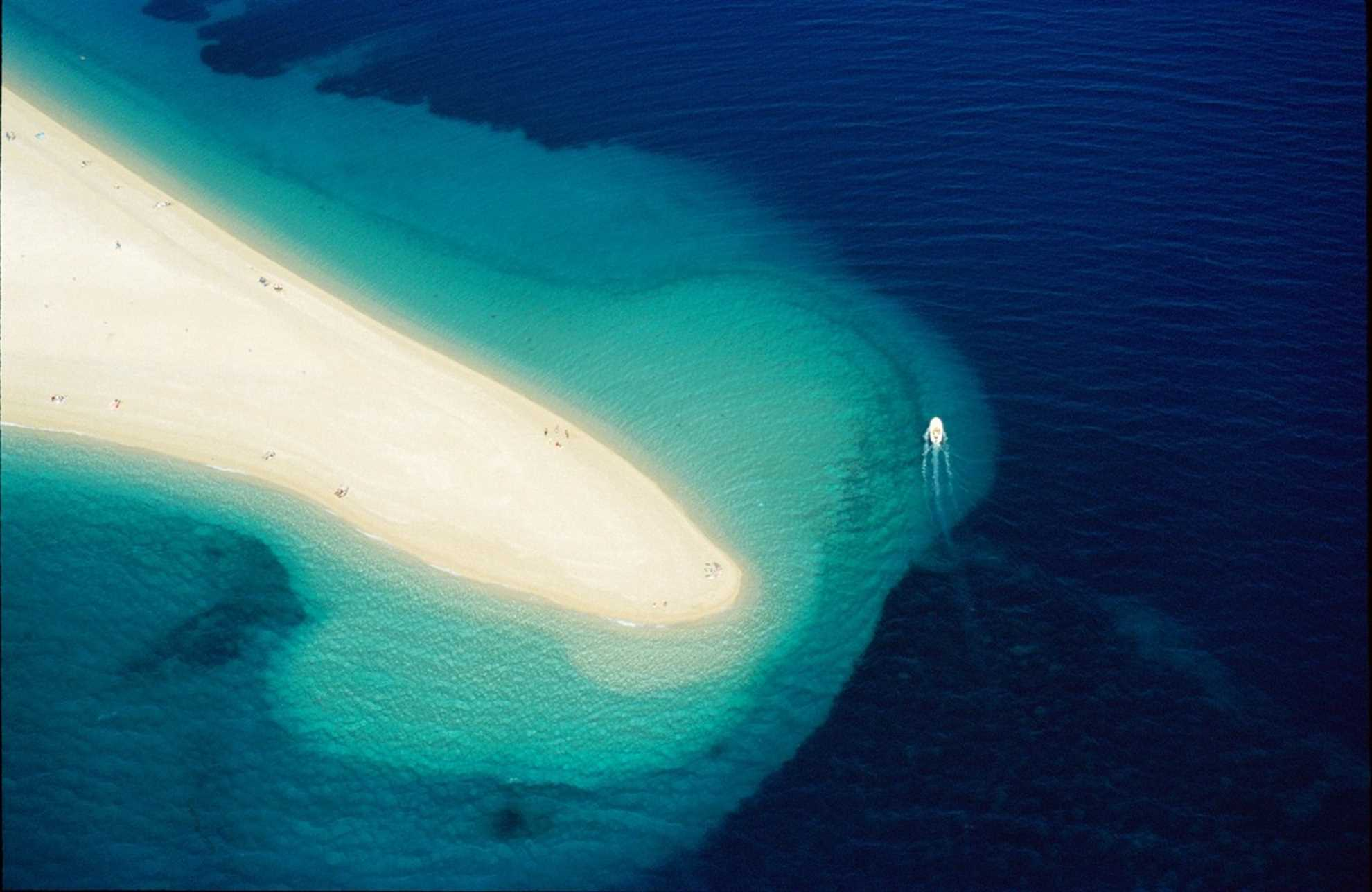 Golden Cape Beach,  the symbol of the Adriatic, Brac island
