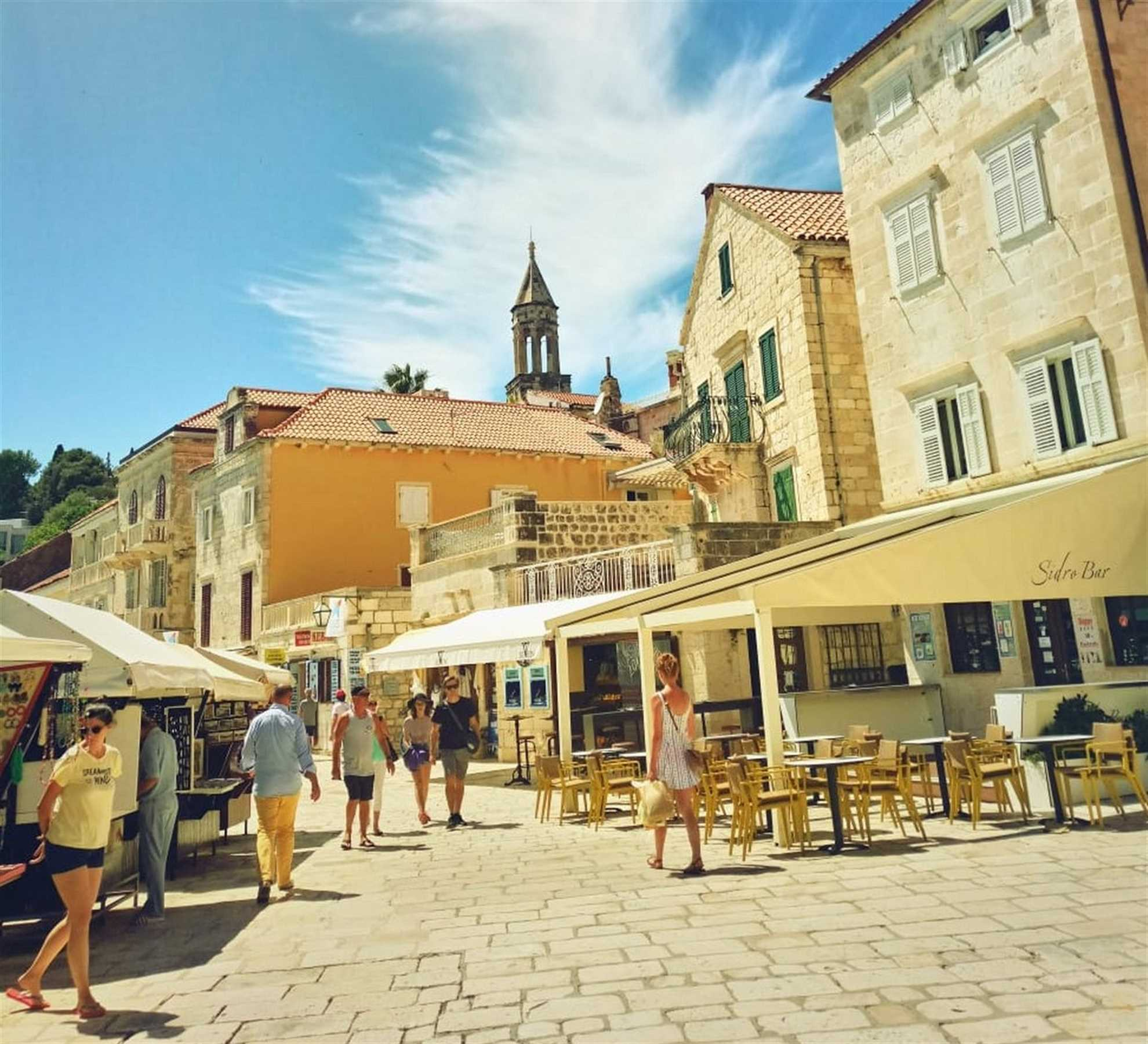 Hvar Streets in the High Sun