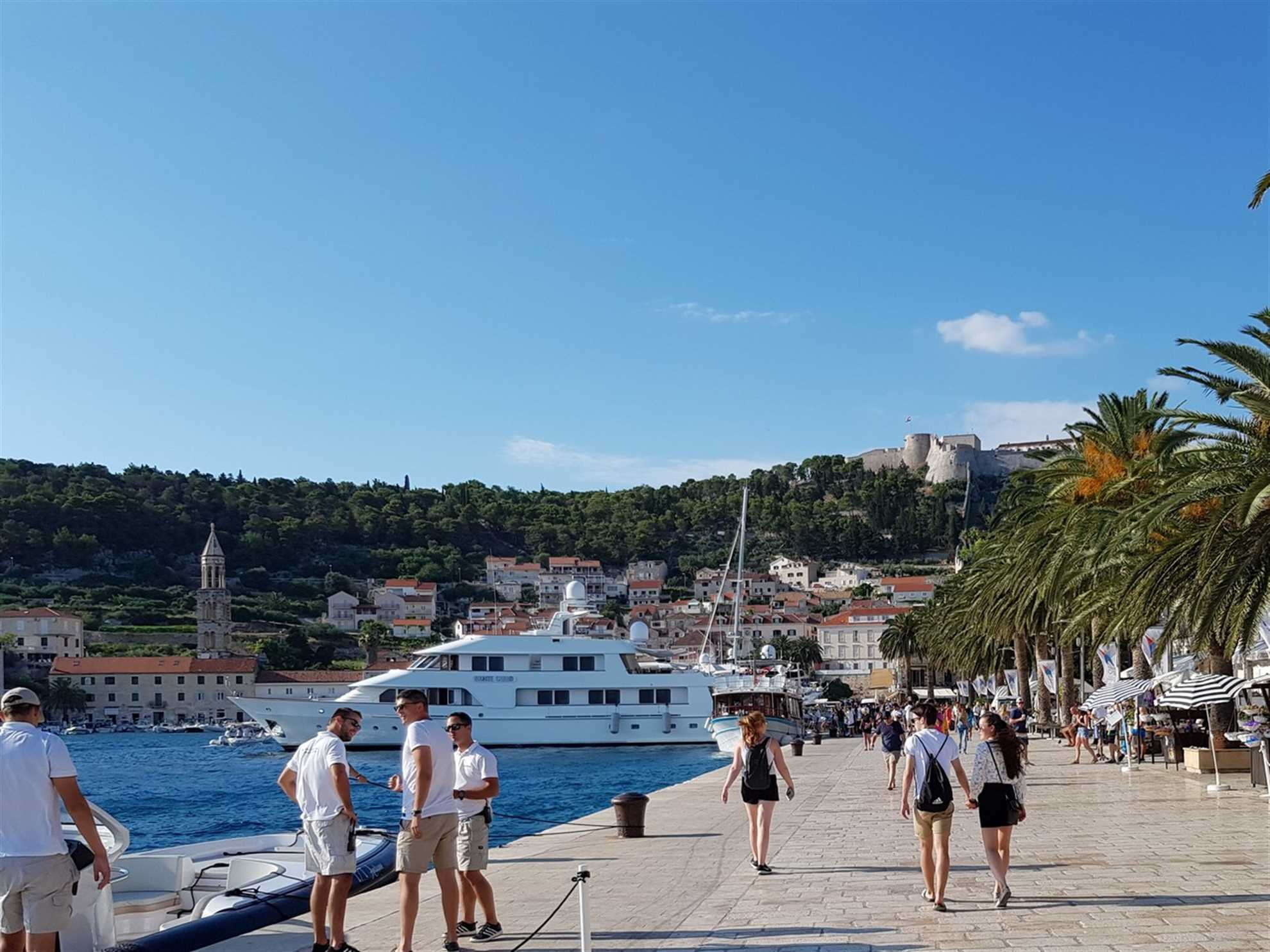 Arrival to port of Hvar
