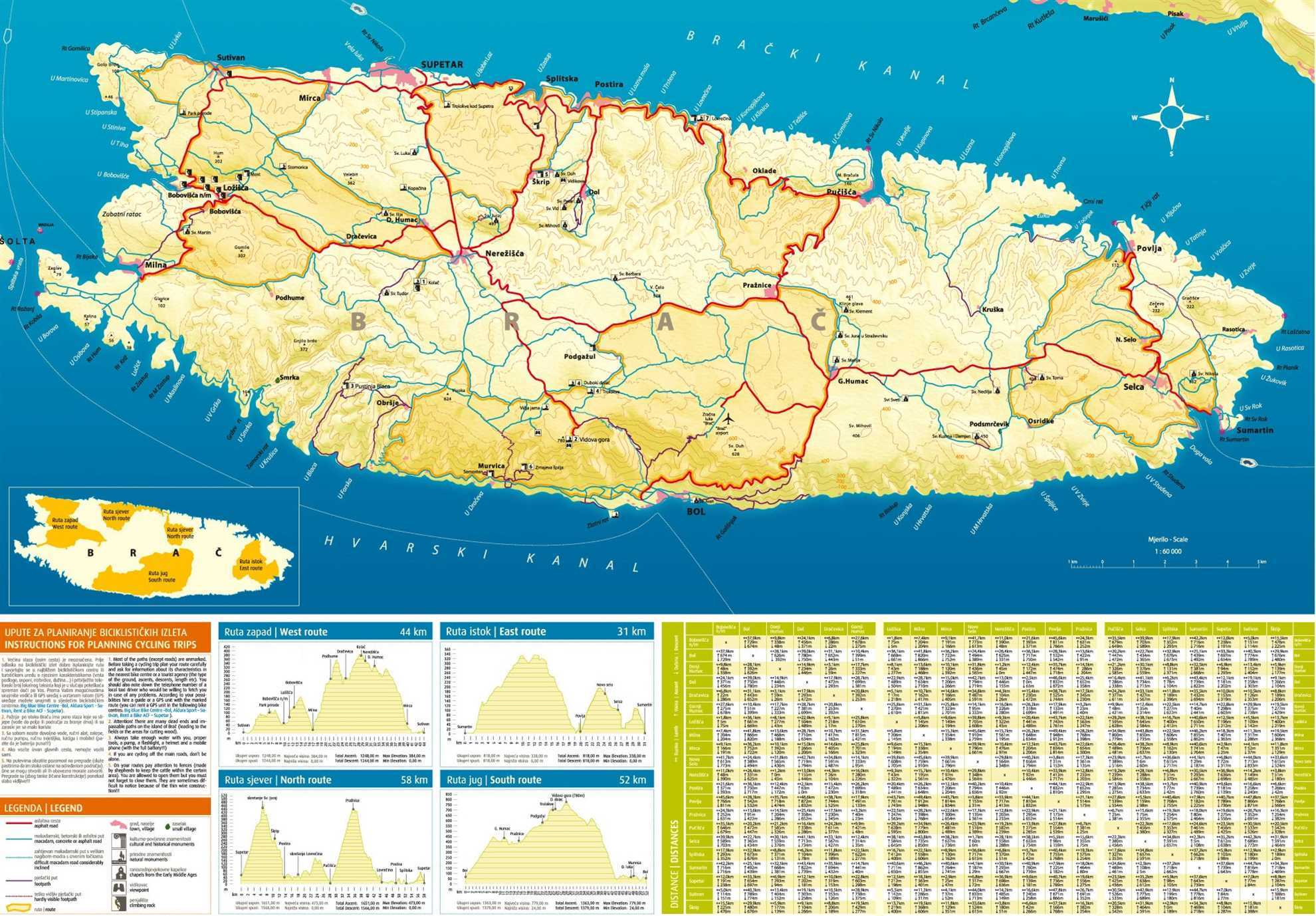Brac Bike Map