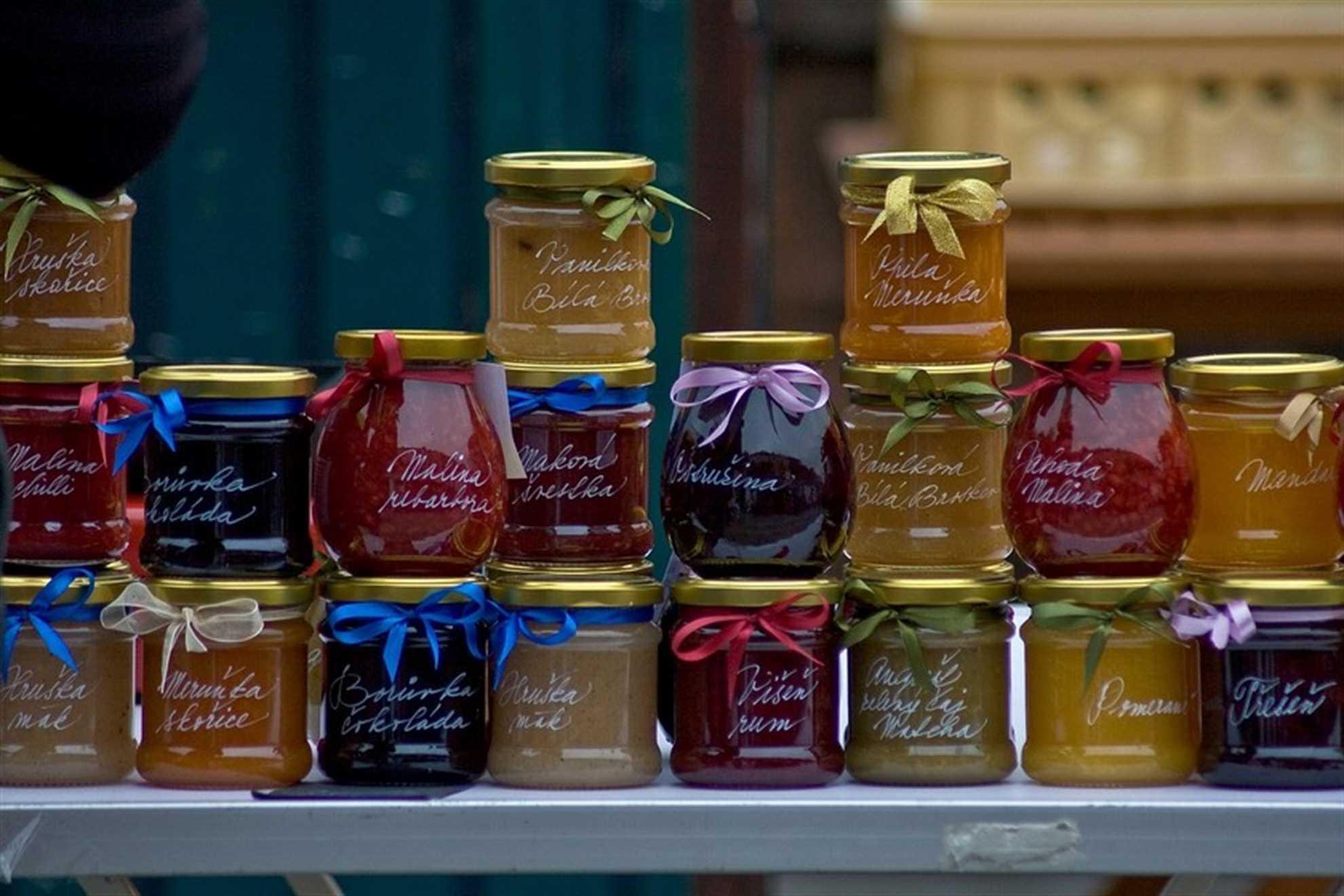 Jars of home made jam