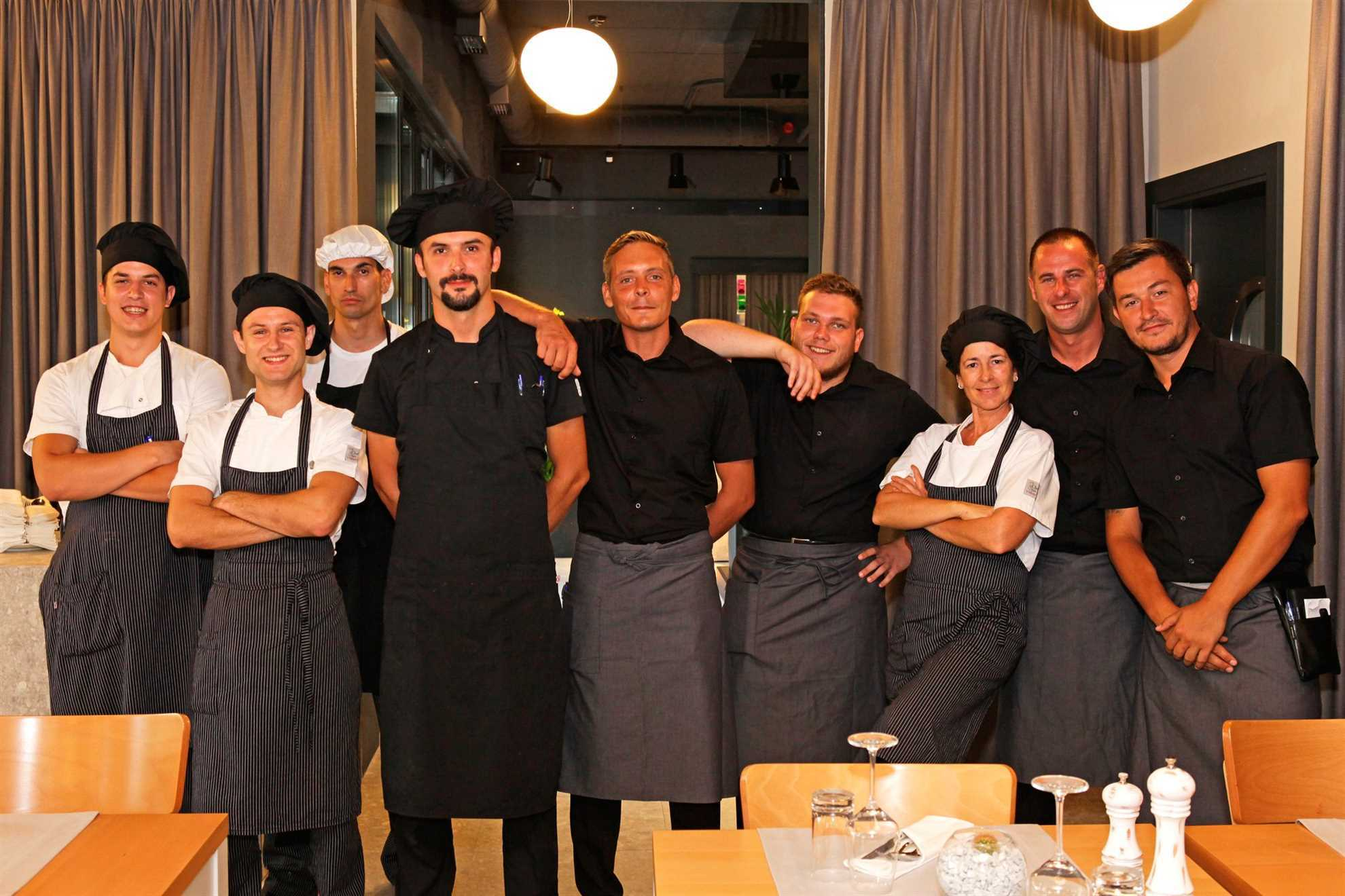 The staff of Restaurant Aria, Brac