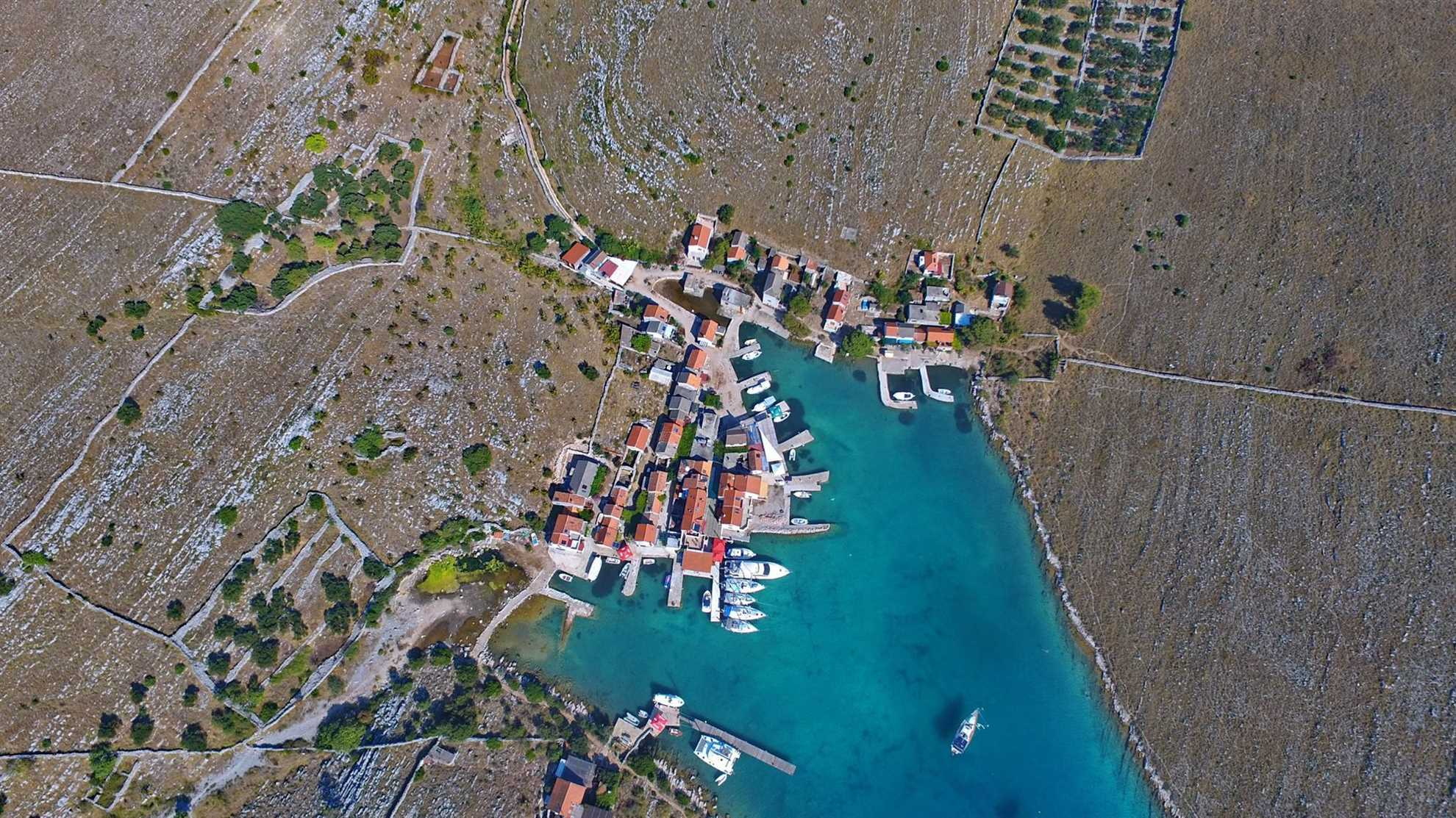 Aerial view of Vrulje Bay by Konoba Ante
