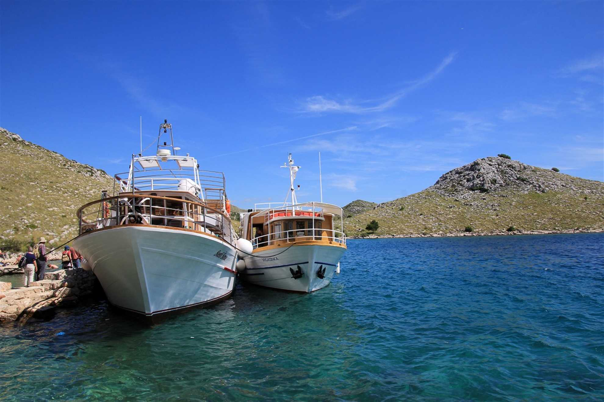 Excursion Boats in National Park Kornati