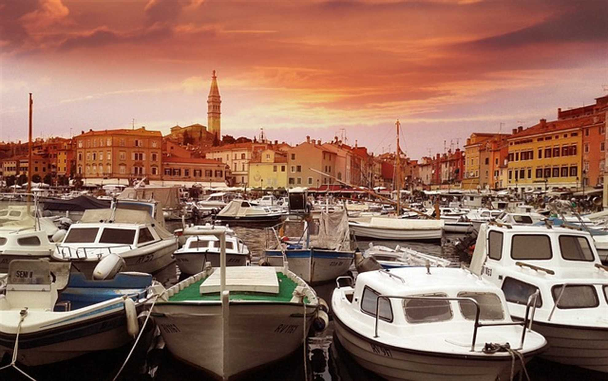 Romantic city Rovinj in Istria