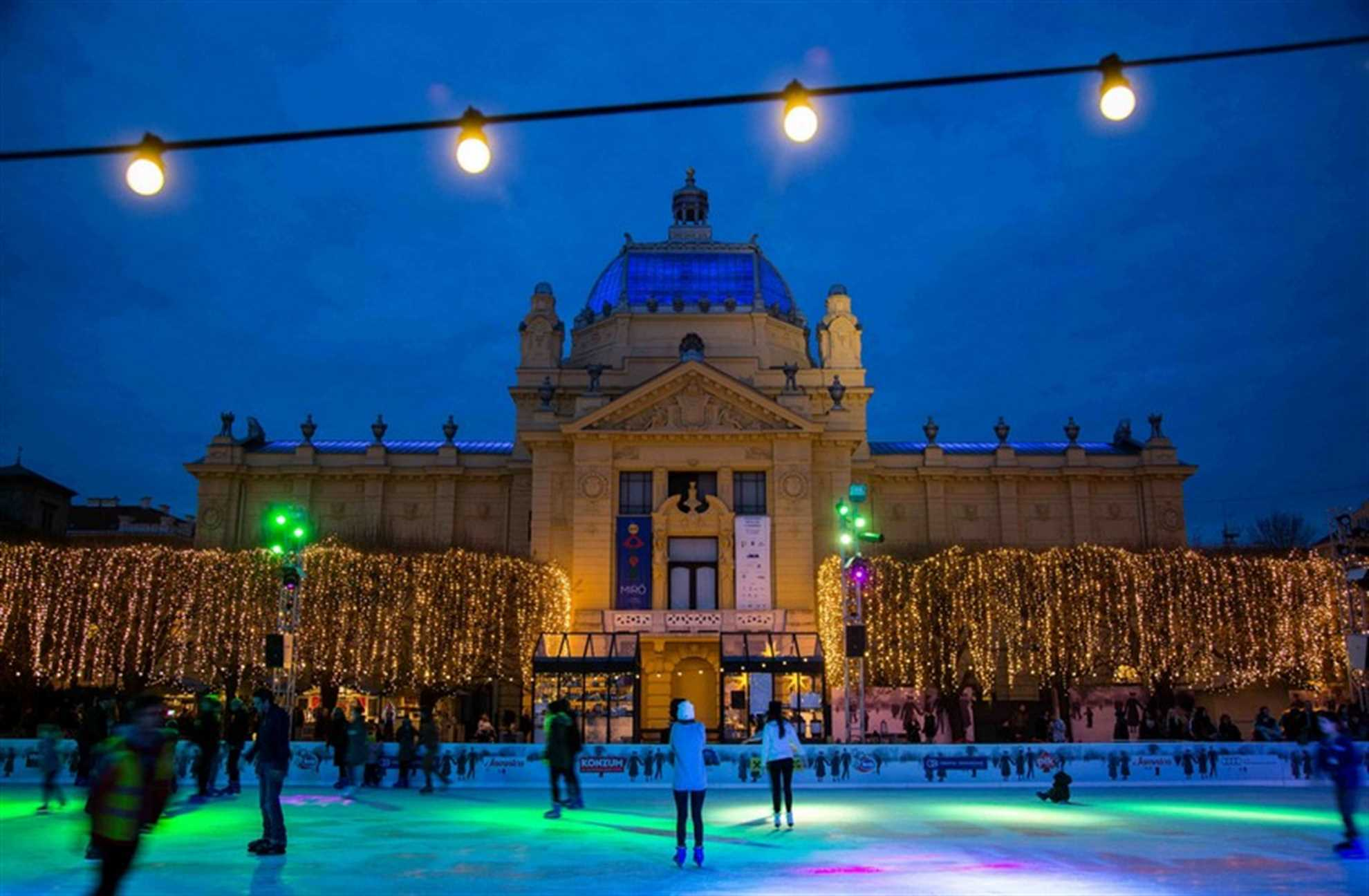 Ice Park in Zagreb, Photo from www.adventzagreb.com