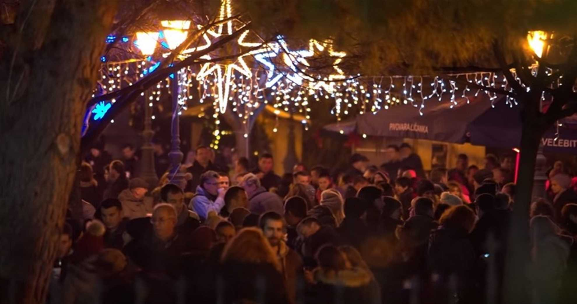 Sibenik Christmas market in City Park
