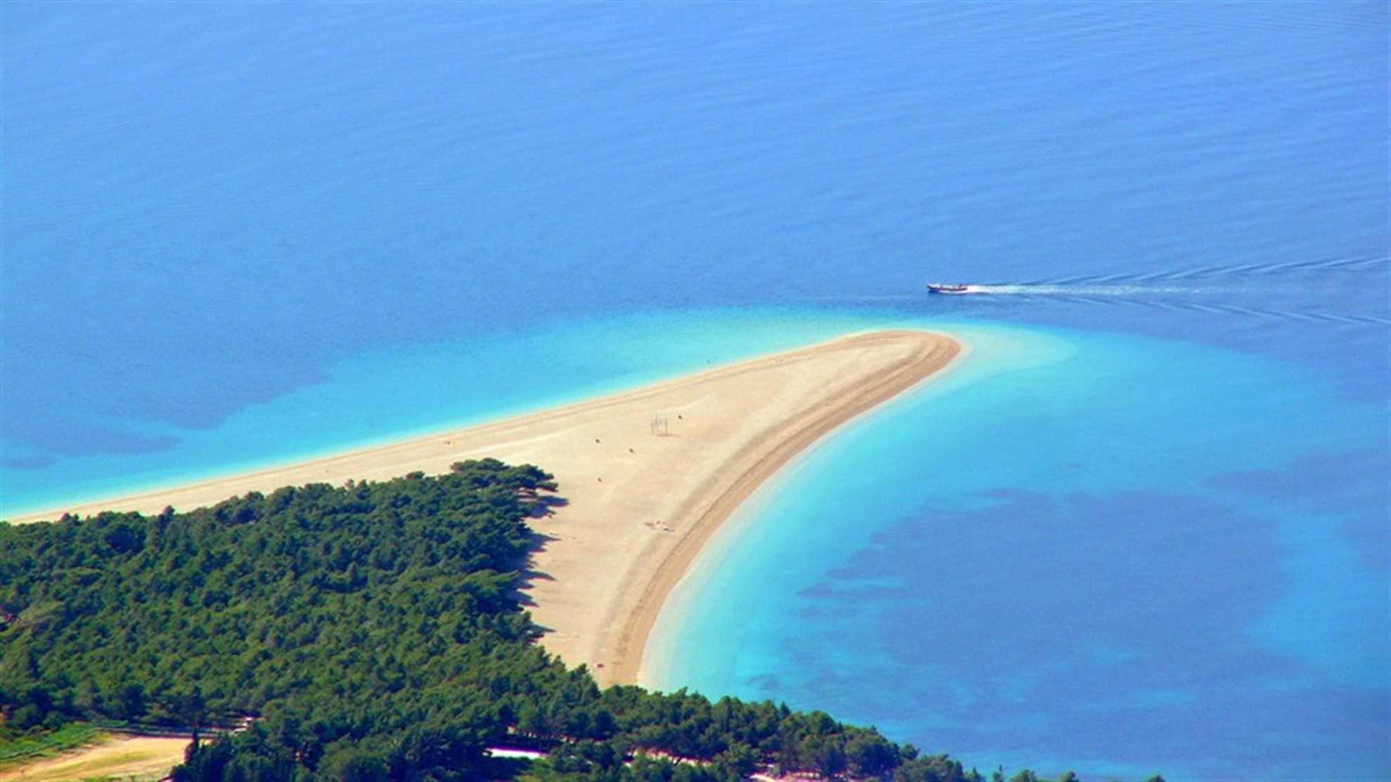 Golden Horn Beach on Brac island in Croatia - photo with no people