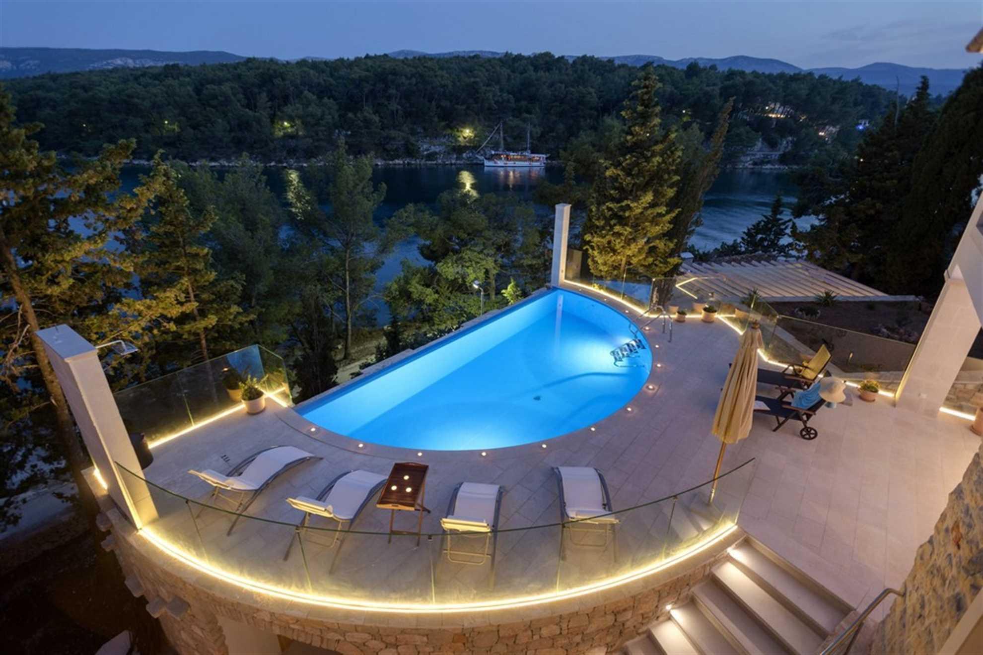 Luxury Villa Hvar Enigma in Vrboska on Hvar island, Swimming Pool
