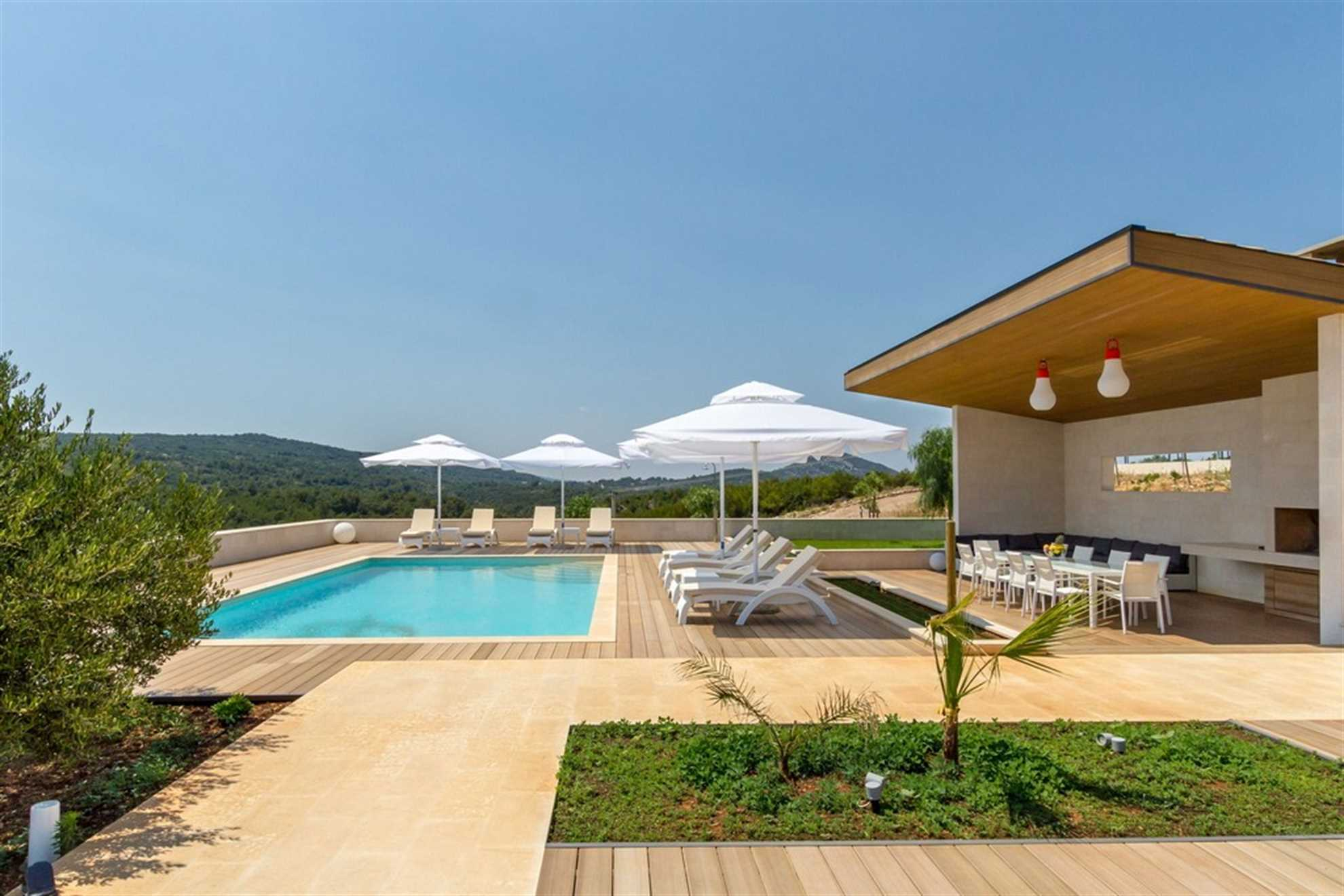 Luxury Villa Pearl of Hvar with Pool for Rent on the island of Hvar