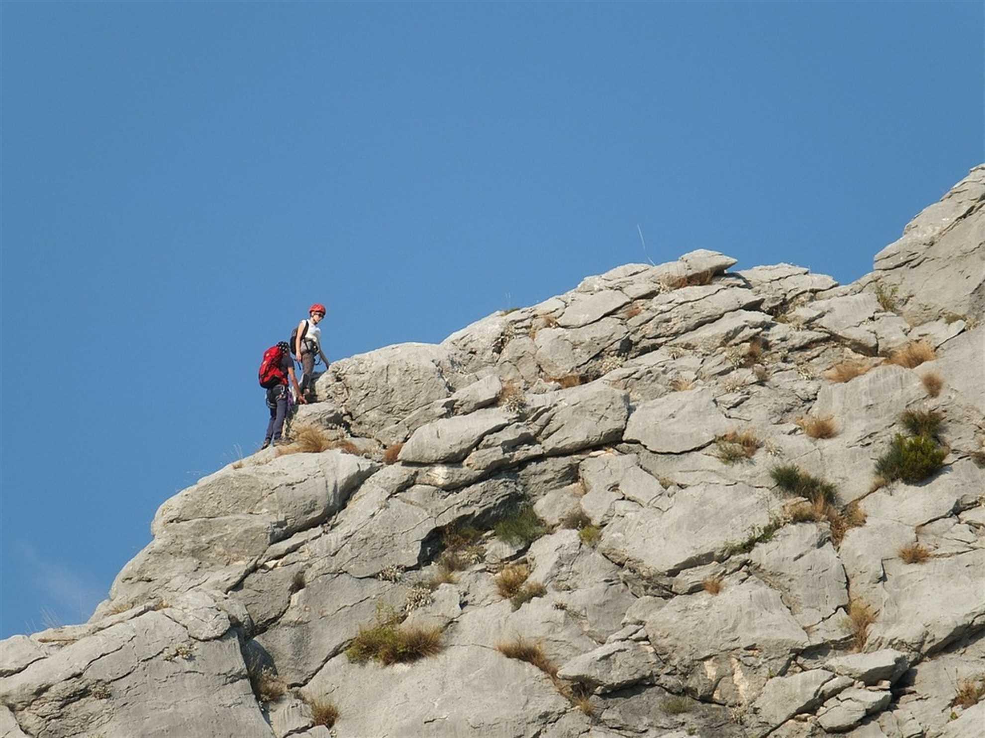 Climbing Crag in Omis
