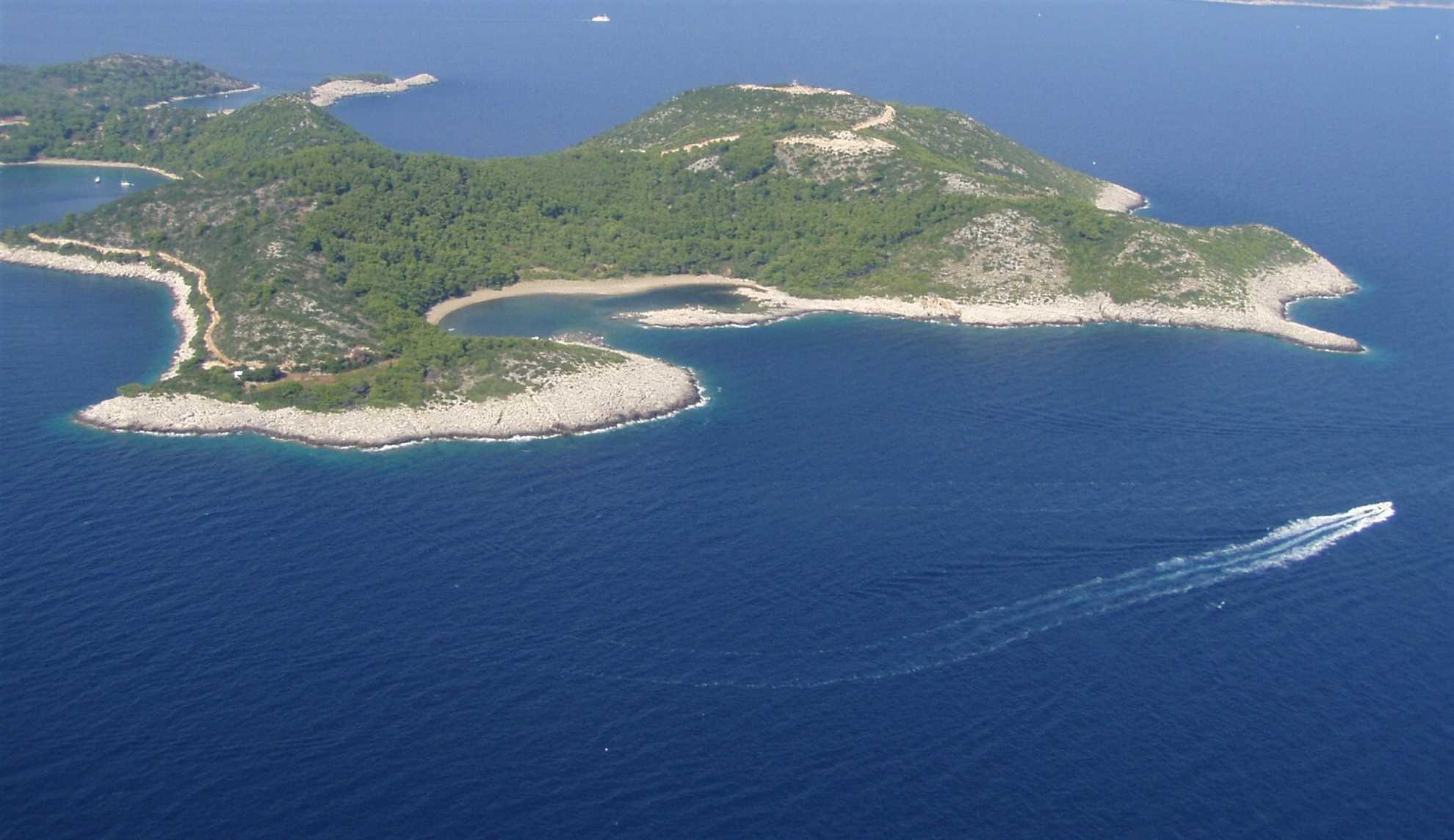 Blace beach on Mljet island in Croatia