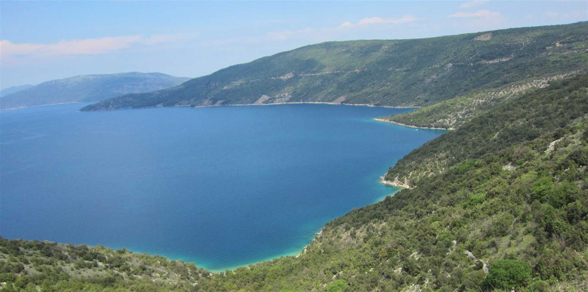 Valun Beach on Cres Island in Croatia