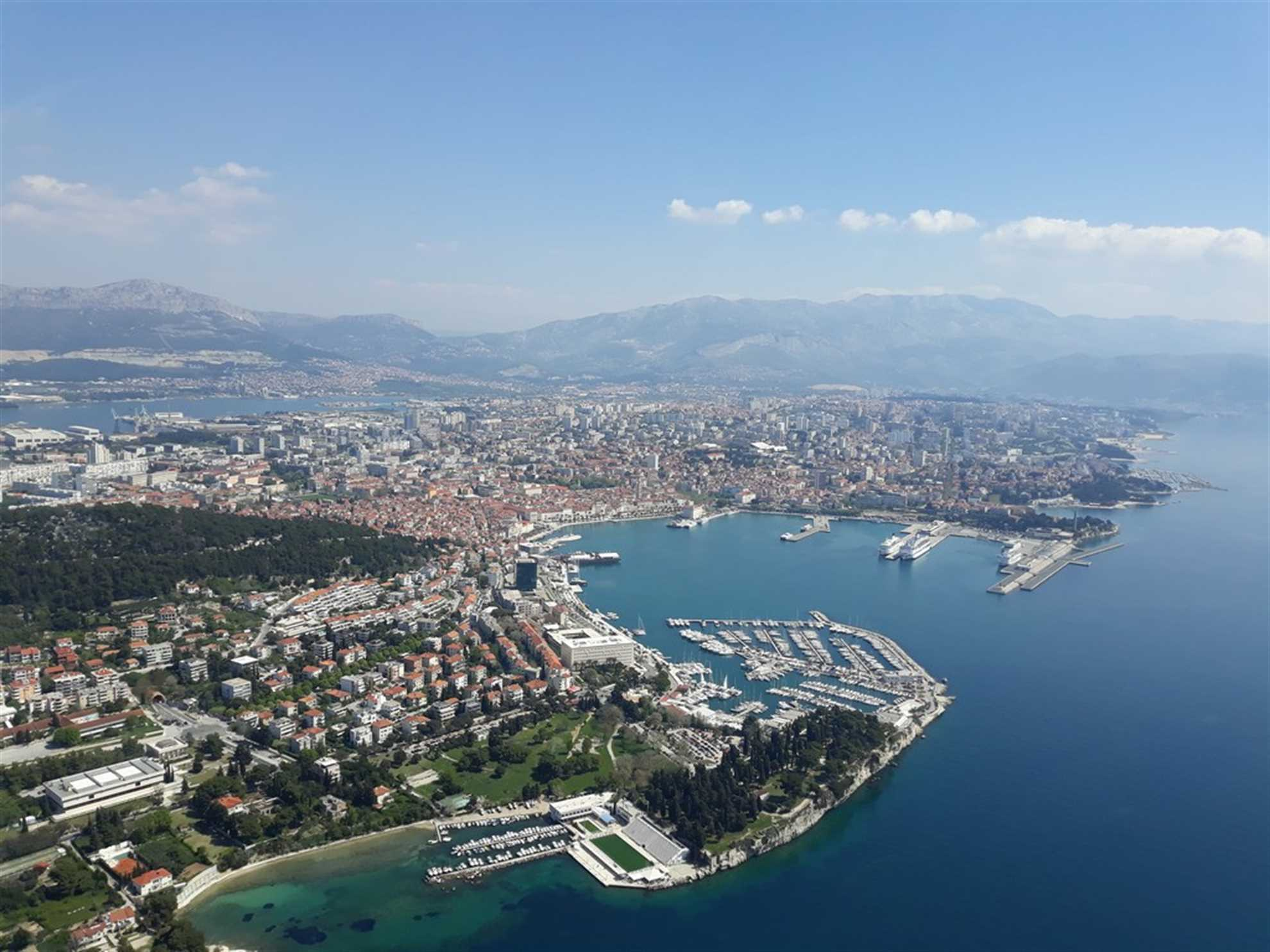 Split Croatia from the air