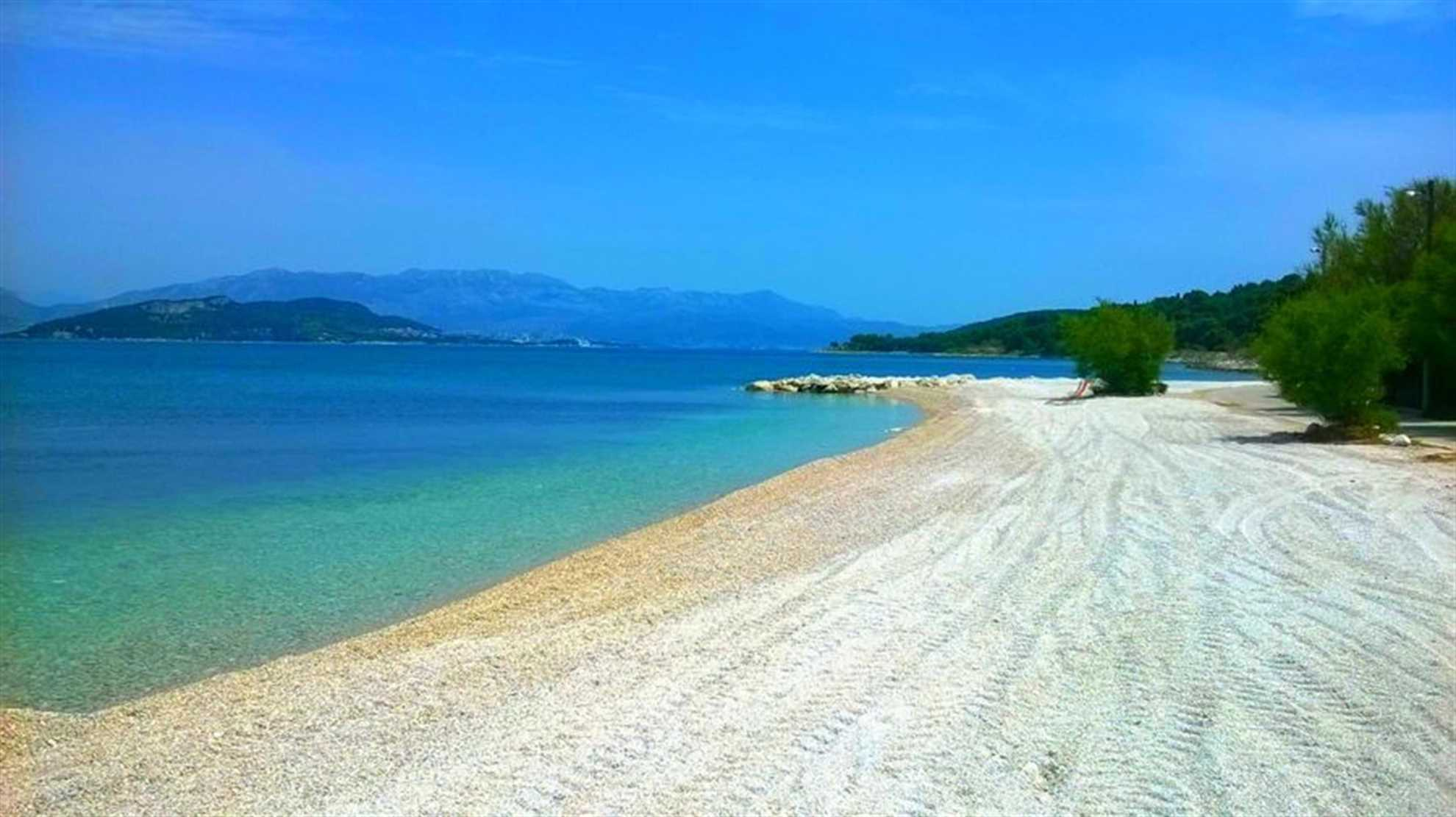 Beach on the island of Ciovo in Middle Dalmatia
