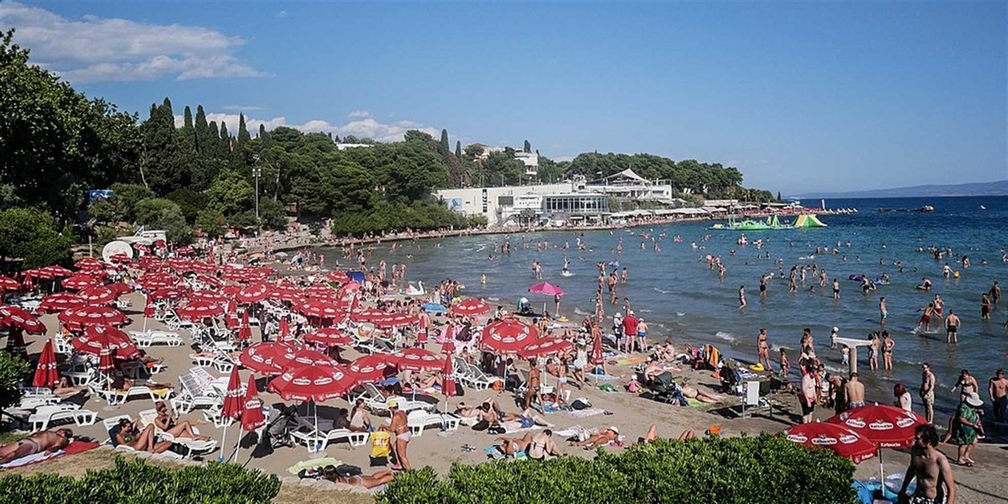 Bacvice Beach in Split