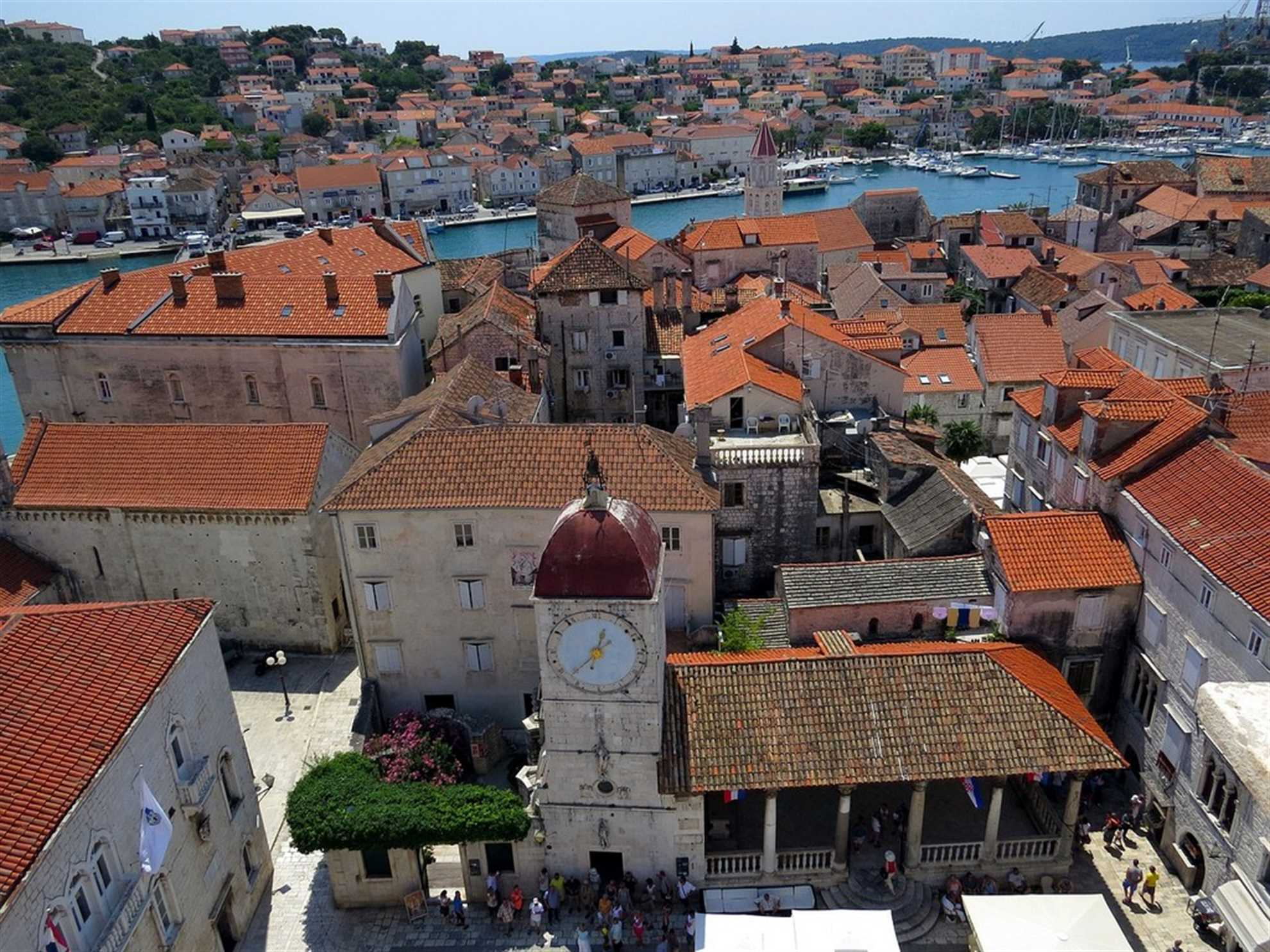 View from the Tower Bell of the Trogir Cathedral