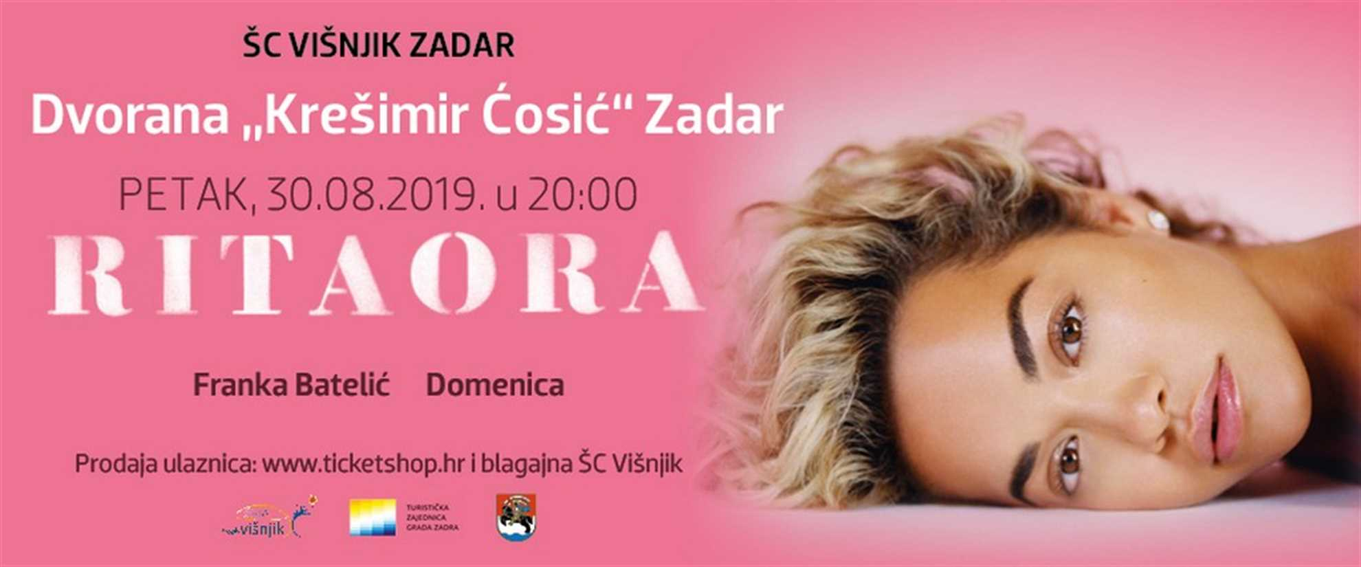 Rita Ora in Zadar Croatia
