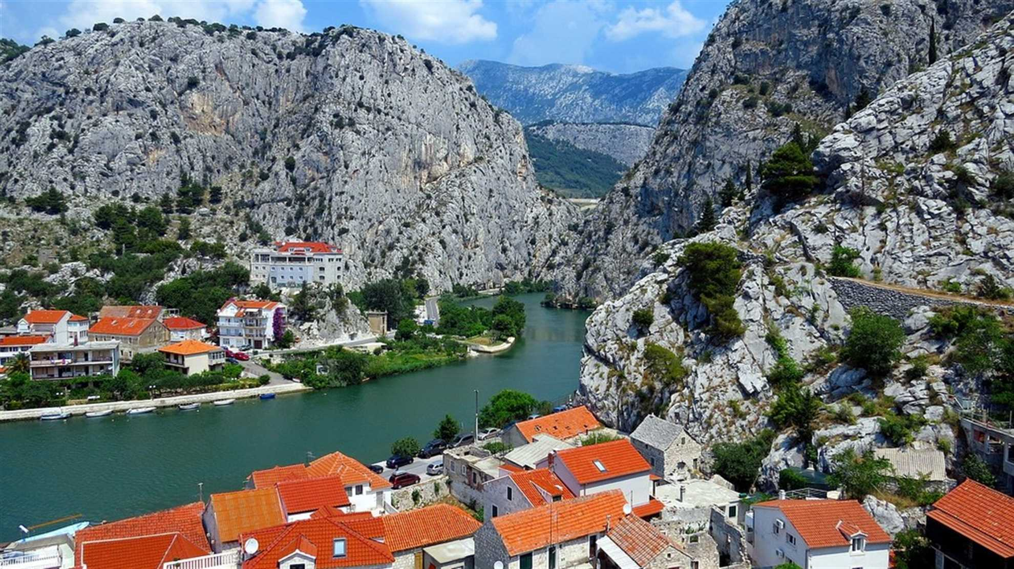 Omis with Cetina river canyon