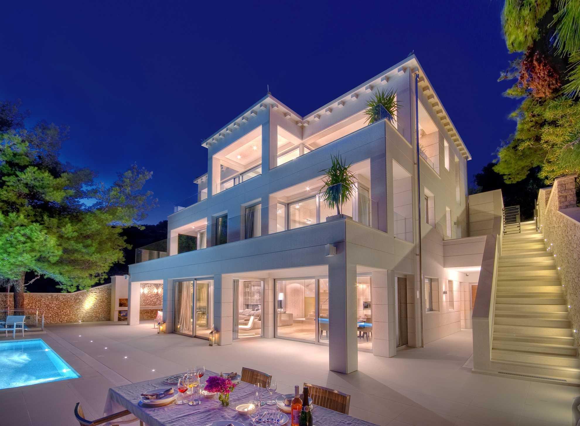 Luxurious Villa Sweet Dream with Swimming Pool by Night , Brac, Croatia