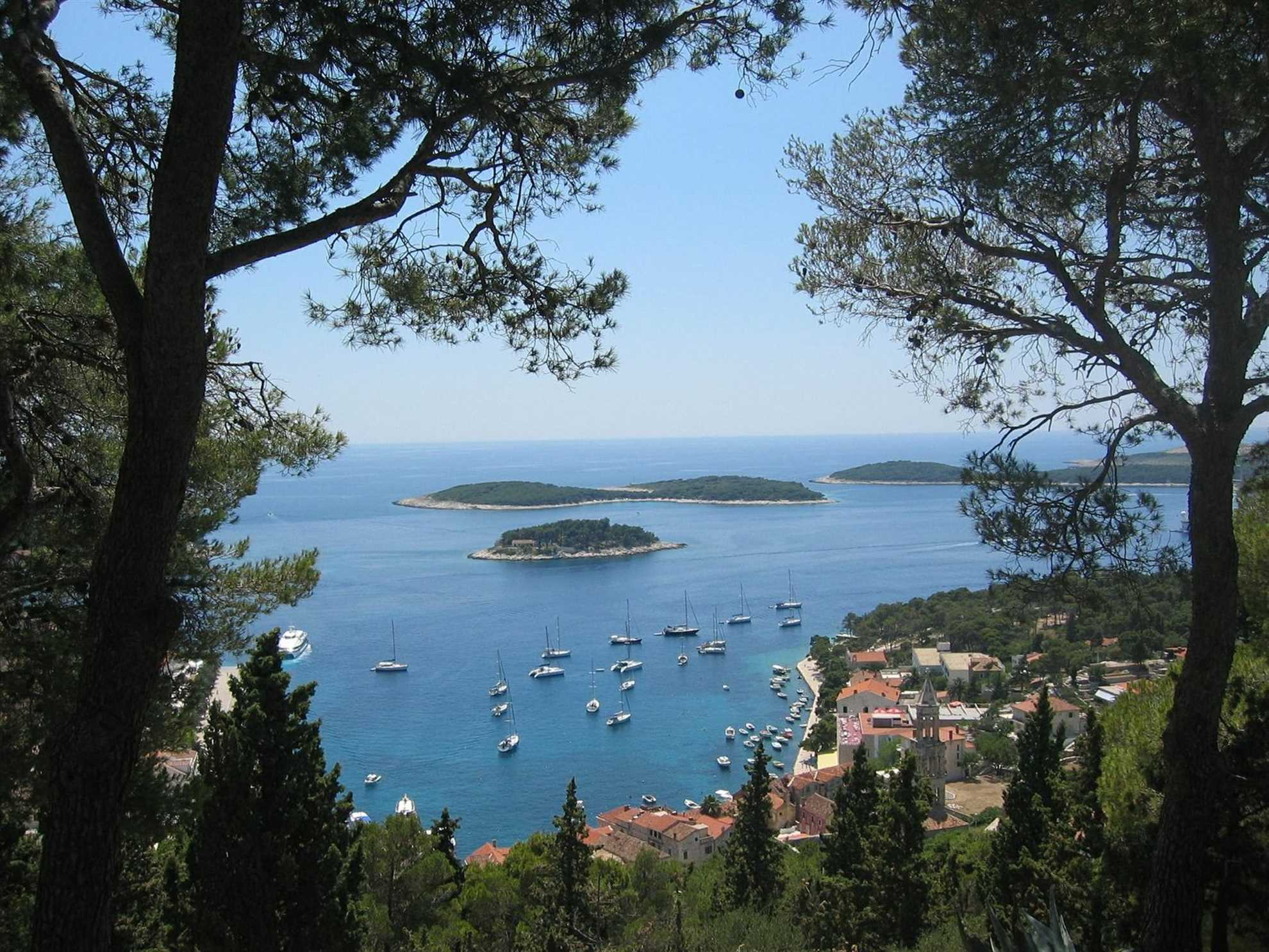 Hvar, Middle Dalmatia, – View from the hill