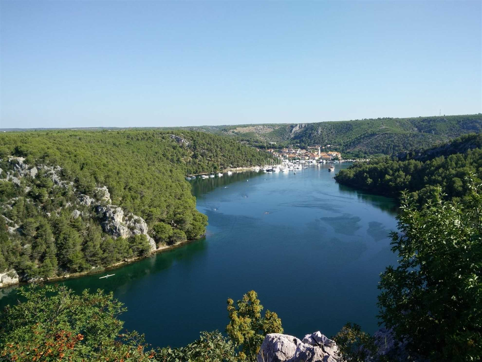 Skradin, small town at the mouth of Krka River