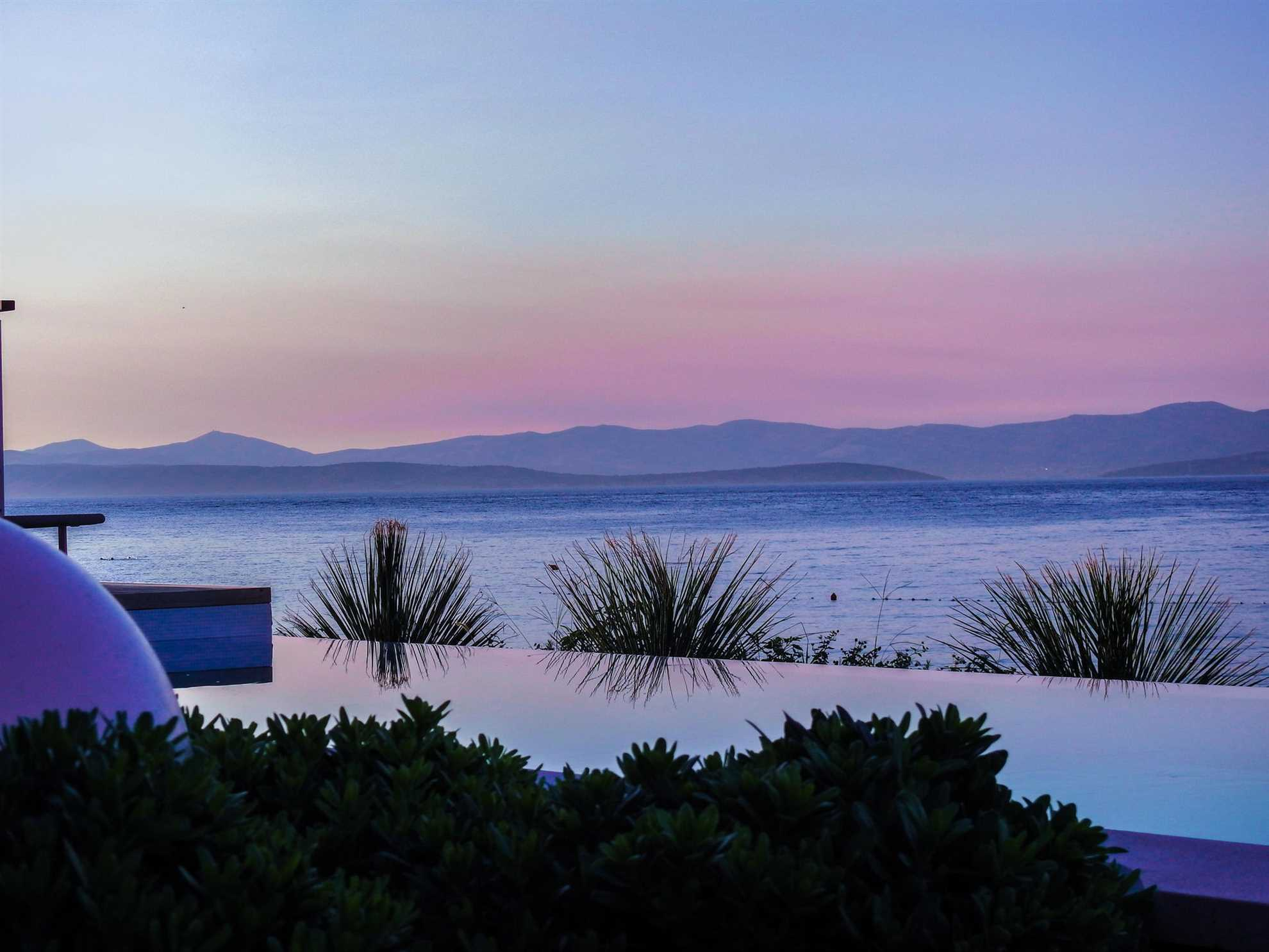 Sunset view Villa Alpha Prestige Brac