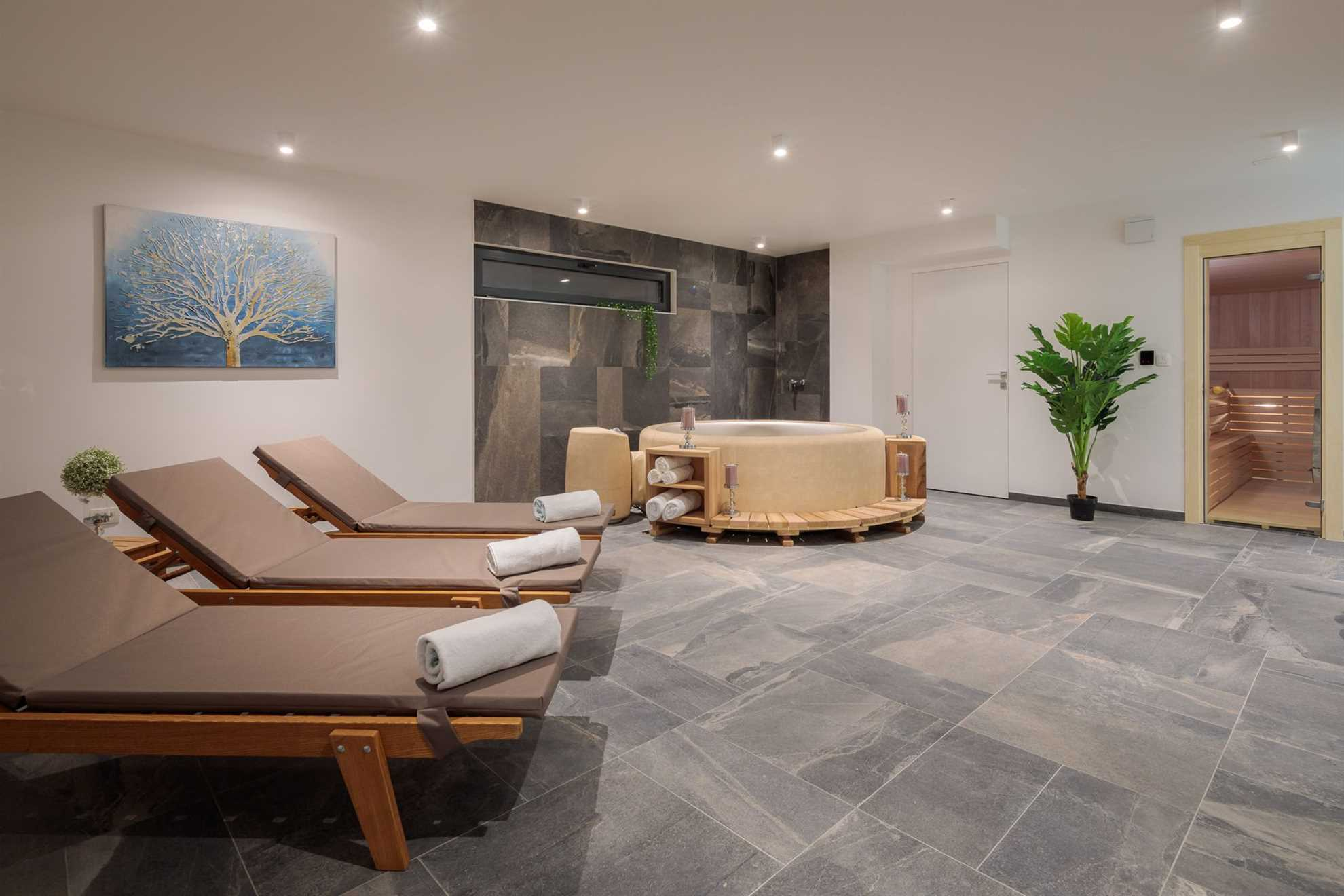 spa area in the luxury villa near Trogir by VIP Holiday Booker